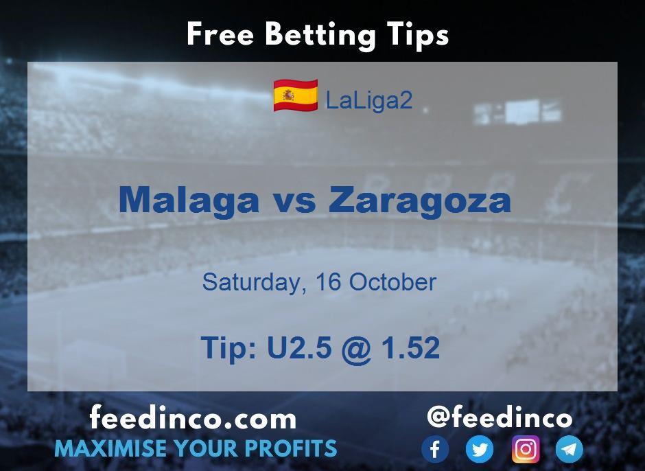 Malaga vs Zaragoza Prediction