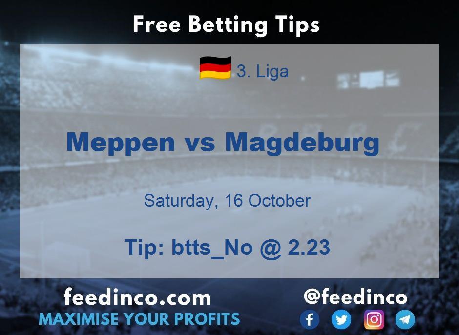 Meppen vs Magdeburg Prediction