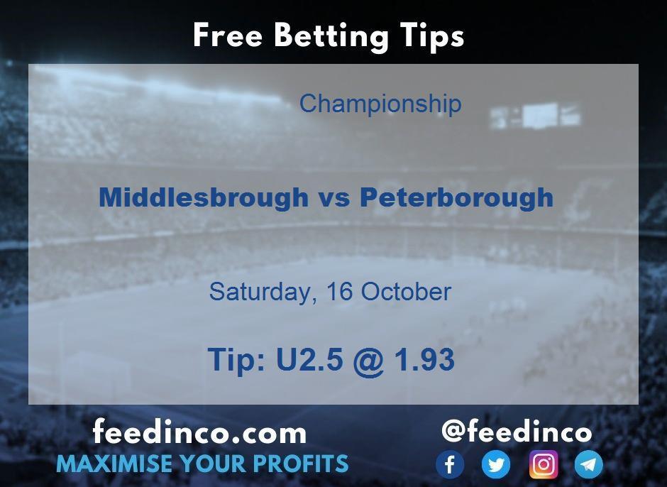 Middlesbrough vs Peterborough Prediction