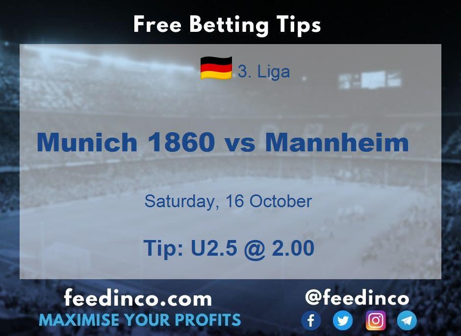 Munich 1860 vs Mannheim Prediction