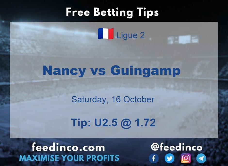 Nancy vs Guingamp Prediction