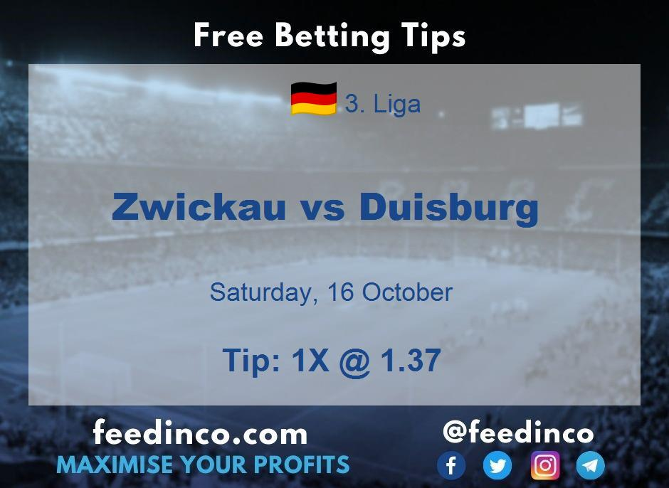 Zwickau vs Duisburg Prediction