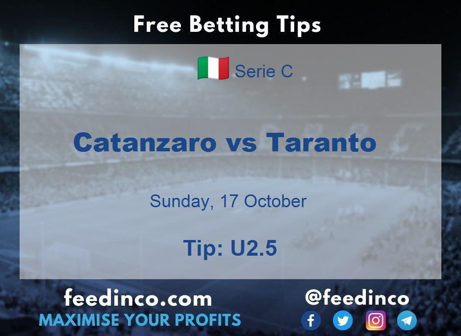 Catanzaro vs Taranto Prediction