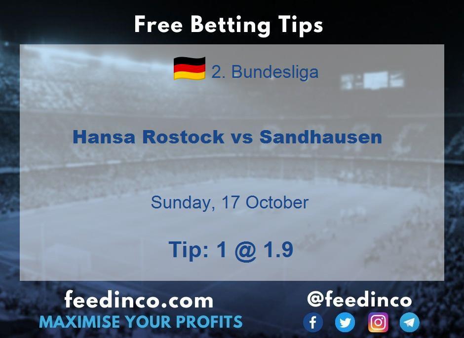 Hansa Rostock vs Sandhausen Prediction