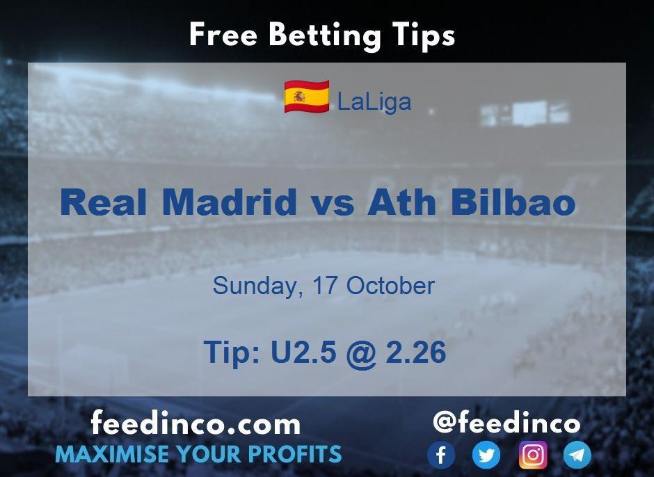 Real Madrid vs Ath Bilbao Prediction