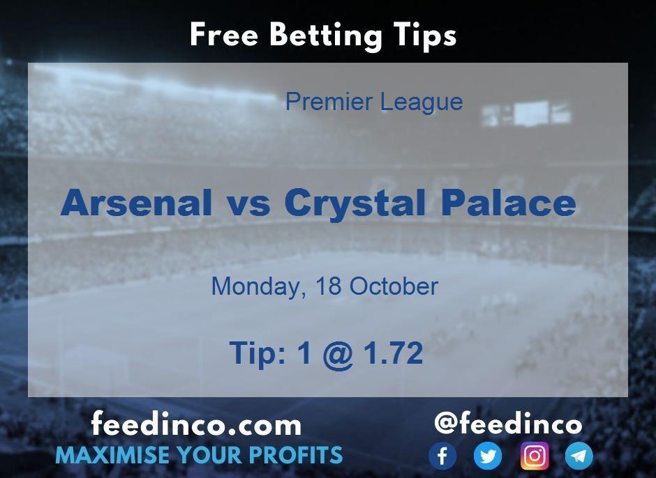 Arsenal vs Crystal Palace Prediction