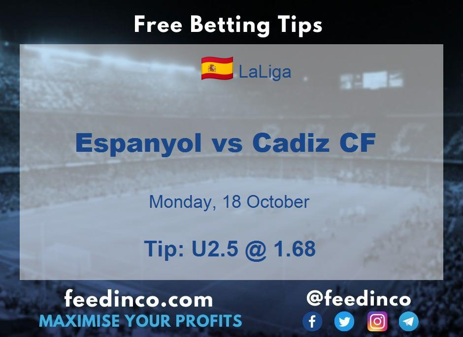 Espanyol vs Cadiz CF Prediction