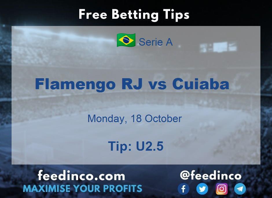 Flamengo RJ vs Cuiaba Prediction