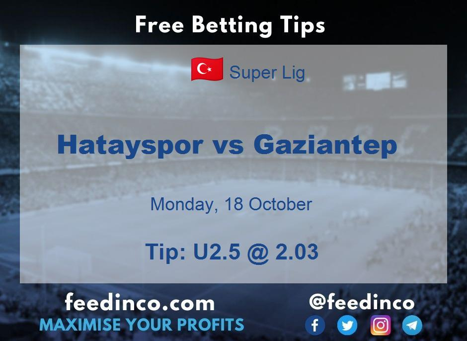 Hatayspor vs Gaziantep Prediction