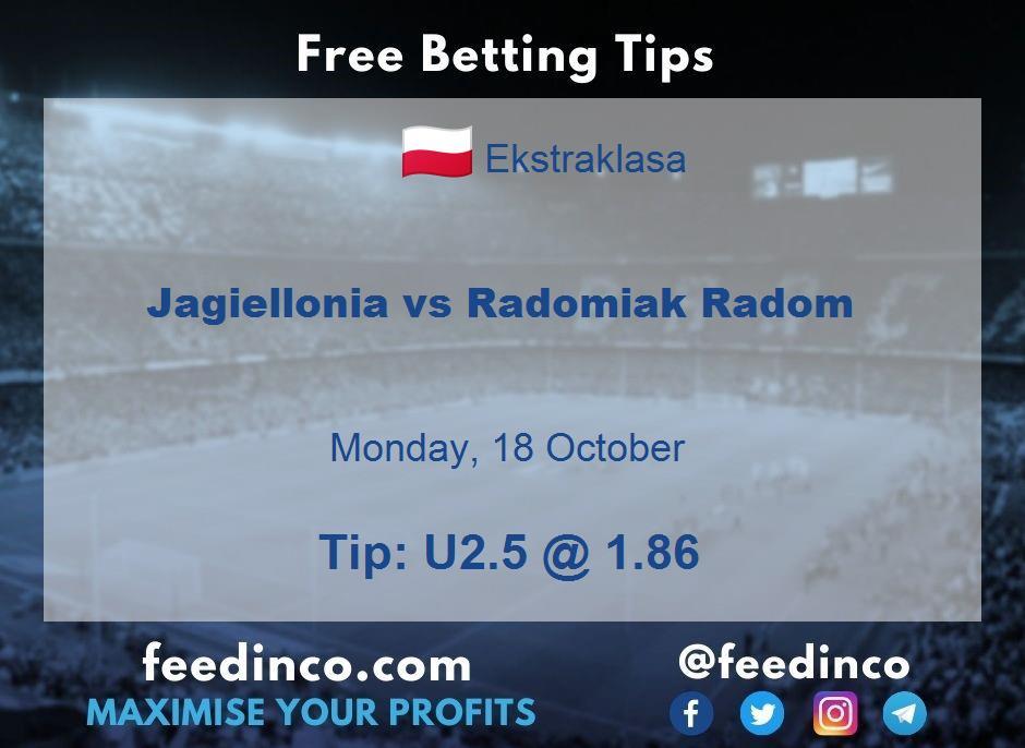 Jagiellonia vs Radomiak Radom Prediction