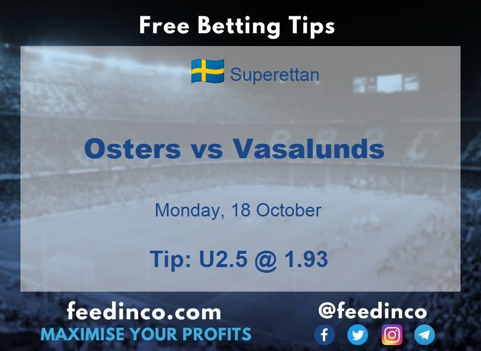 Osters vs Vasalunds Prediction