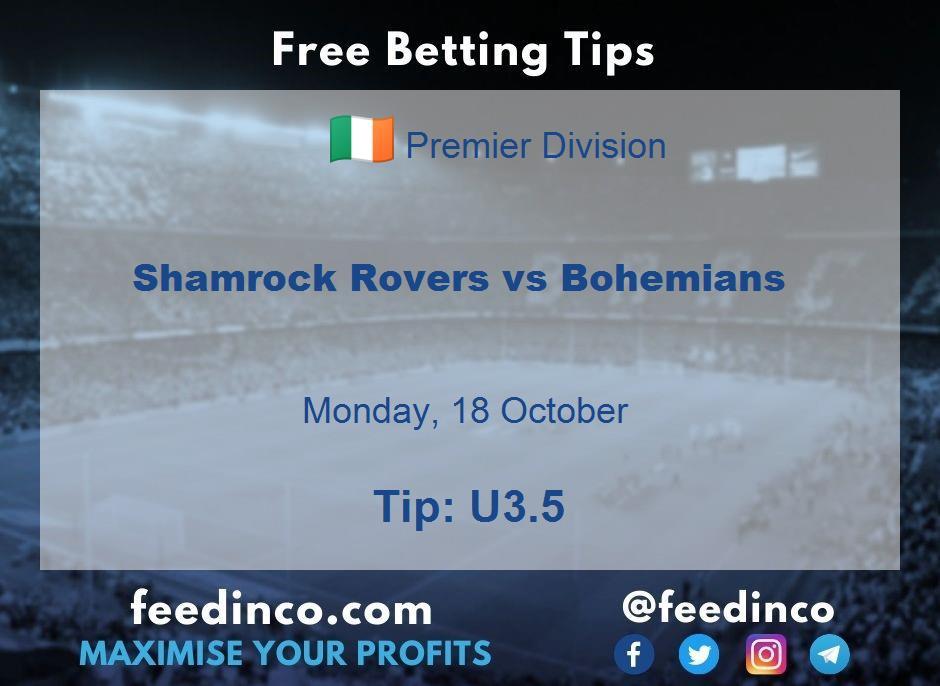 Shamrock Rovers vs Bohemians Prediction
