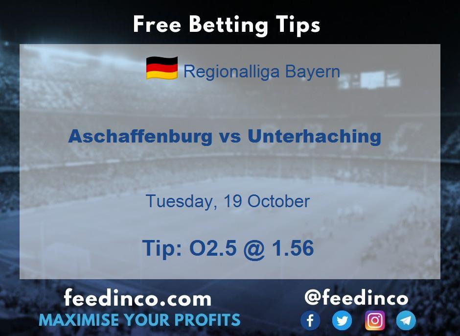 Aschaffenburg vs Unterhaching Prediction