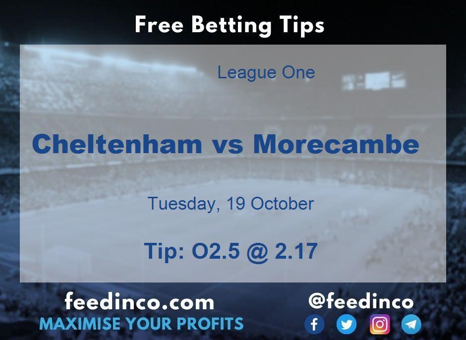 Cheltenham vs Morecambe Prediction