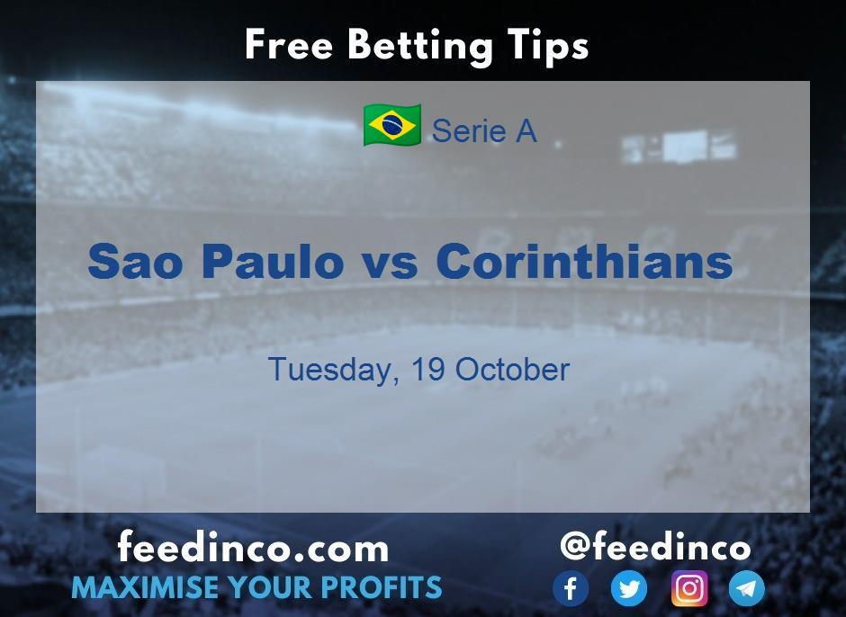 Sao Paulo vs Corinthians Prediction
