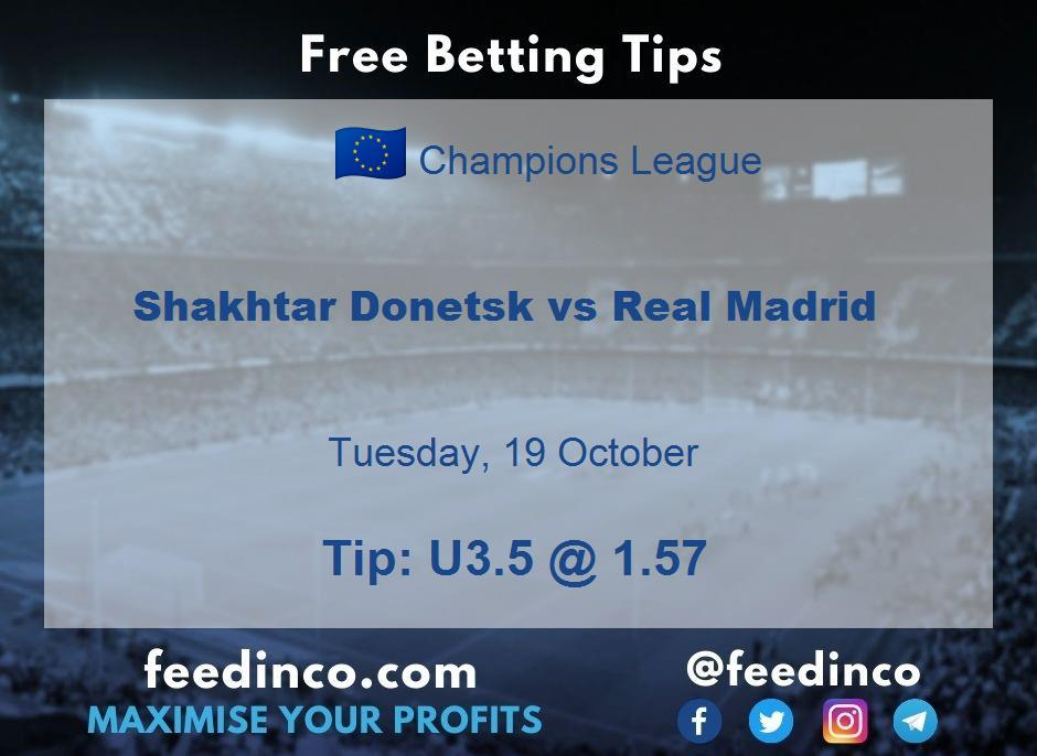 Shakhtar Donetsk vs Real Madrid Prediction