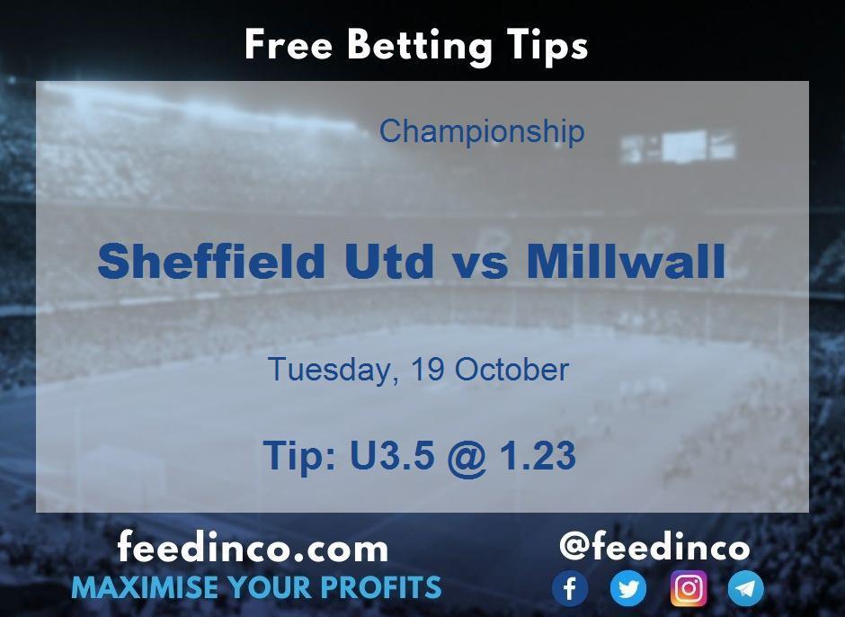 Sheffield Utd vs Millwall Prediction