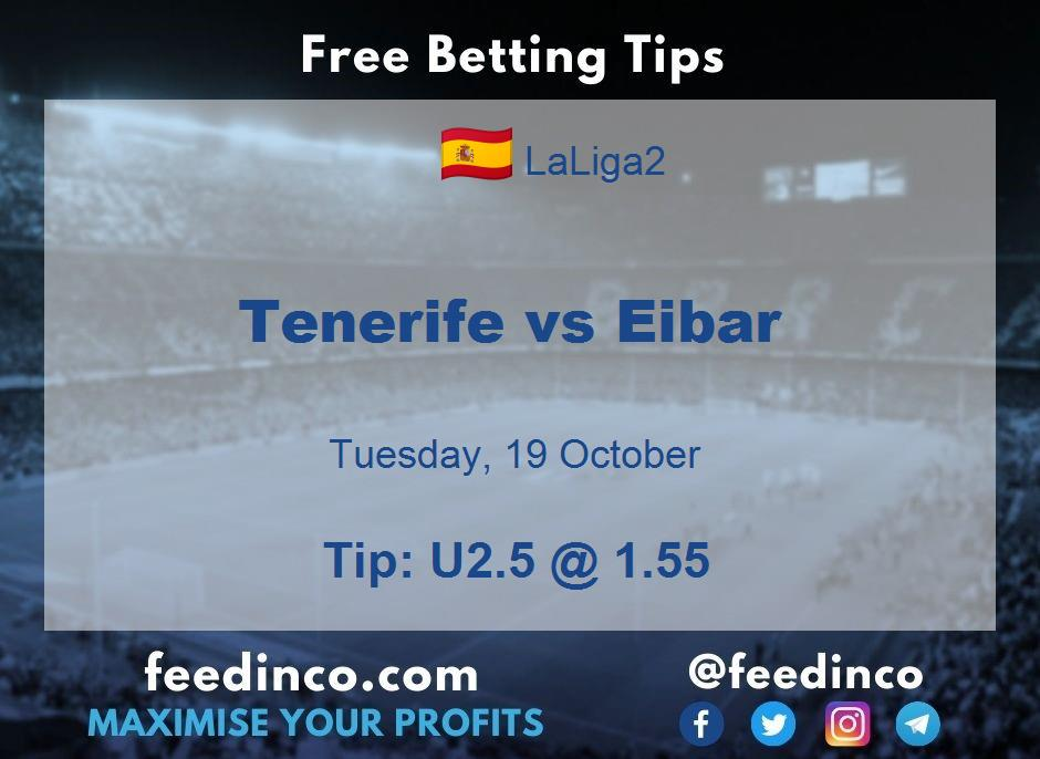 Tenerife vs Eibar Prediction