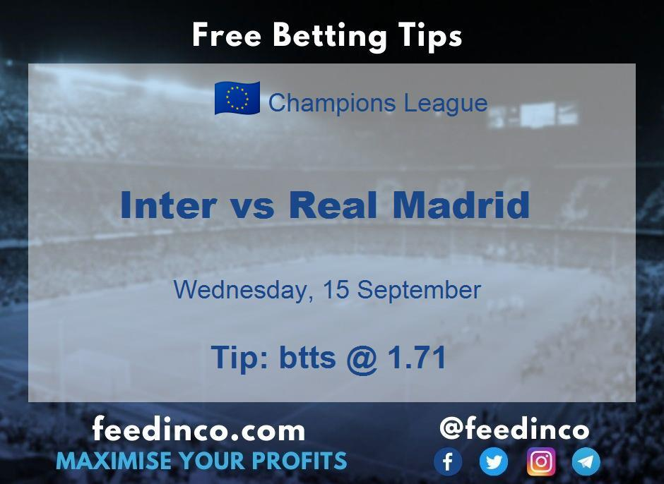 Inter vs Real Madrid Prediction