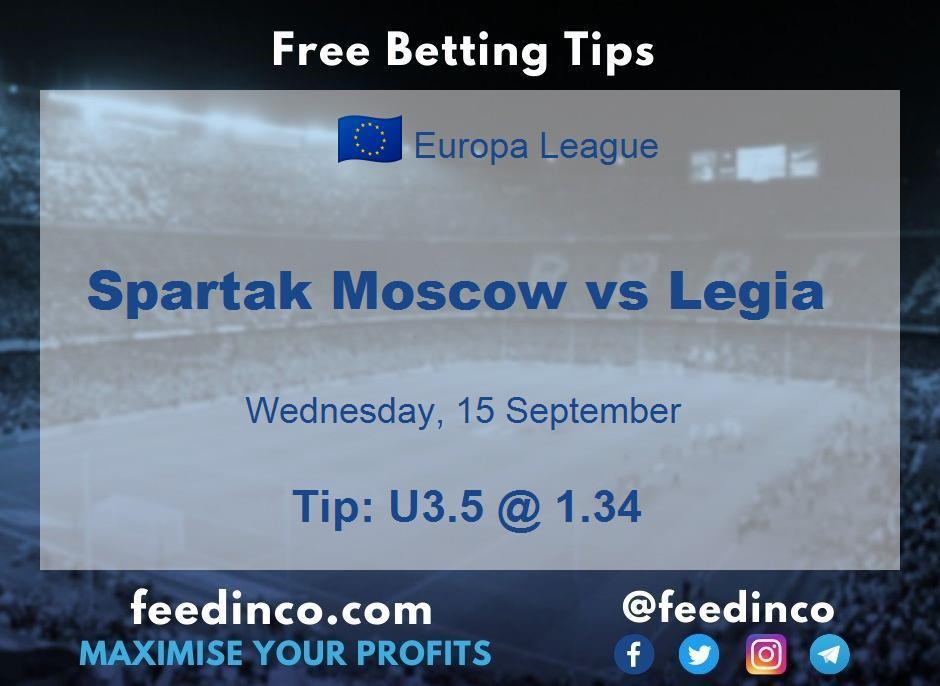 Spartak Moscow vs Legia Prediction
