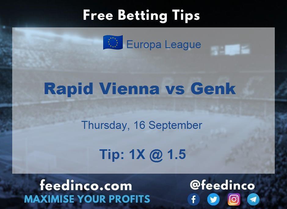 Rapid Vienna vs Genk Prediction