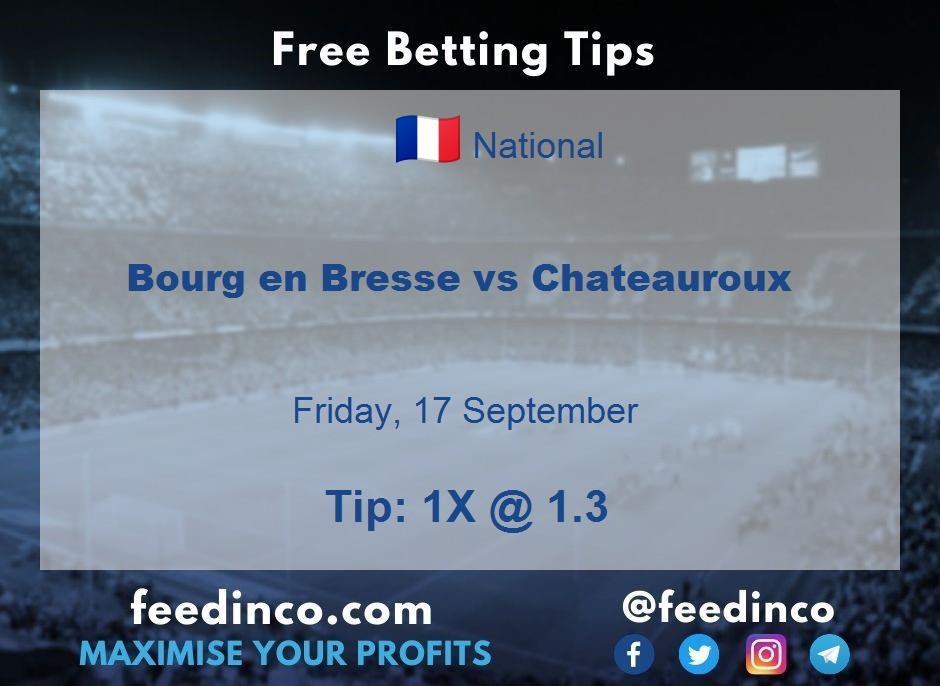 Bourg en Bresse vs Chateauroux Prediction