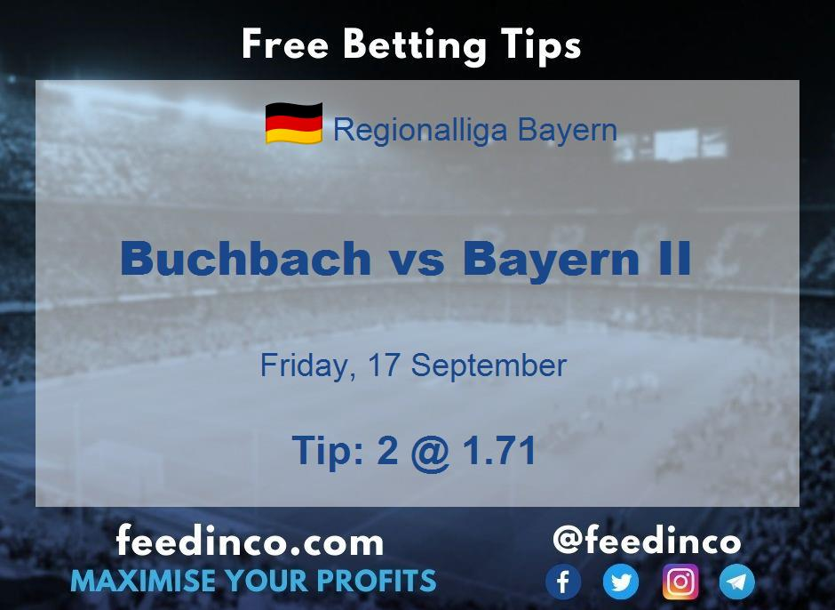 Buchbach vs Bayern II Prediction