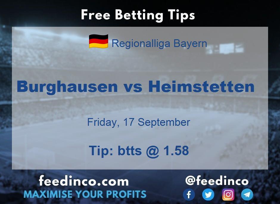 Burghausen vs Heimstetten Prediction
