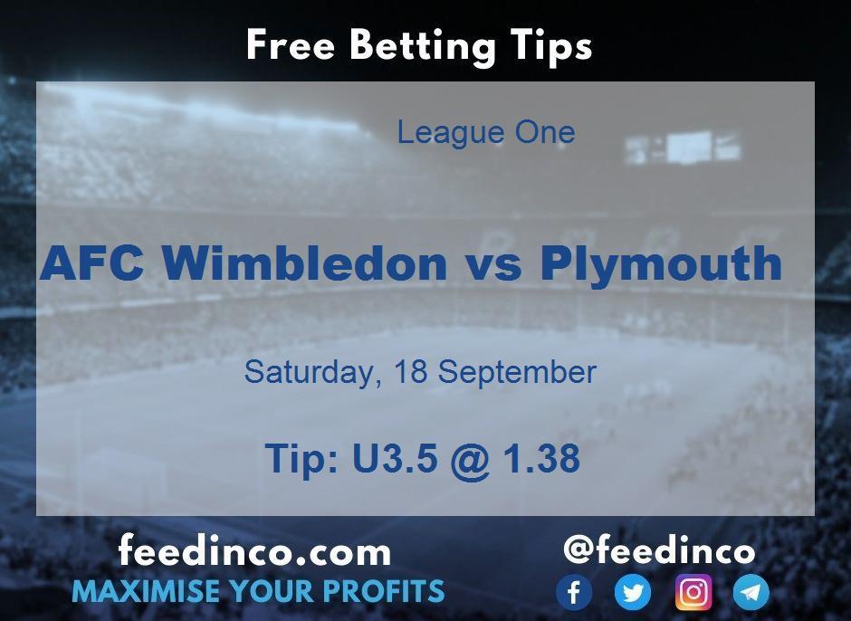 AFC Wimbledon vs Plymouth Prediction