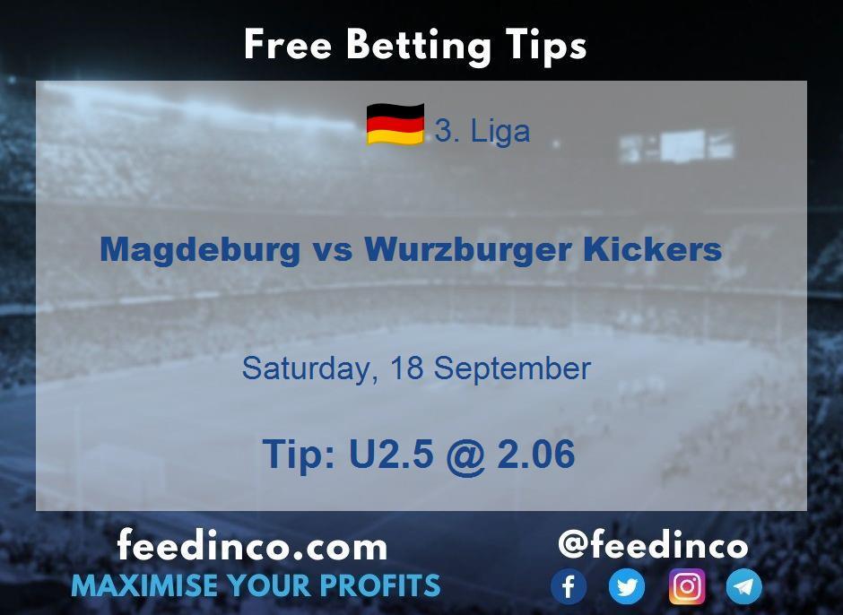 Magdeburg vs Wurzburger Kickers Prediction