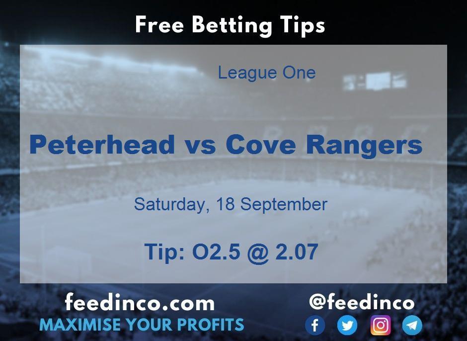 Peterhead vs Cove Rangers Prediction