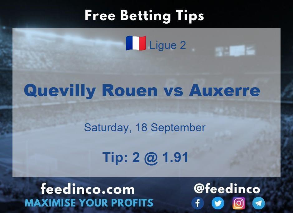 Quevilly Rouen vs Auxerre Prediction
