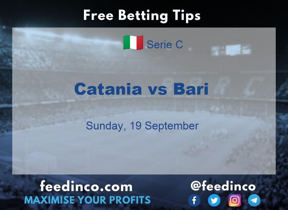 Catania vs Bari Prediction
