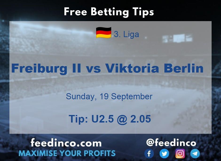 Freiburg II vs Viktoria Berlin Prediction