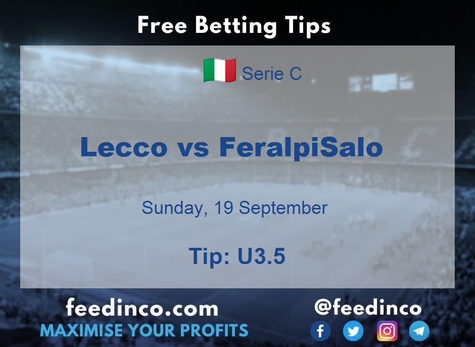 Lecco vs FeralpiSalo Prediction