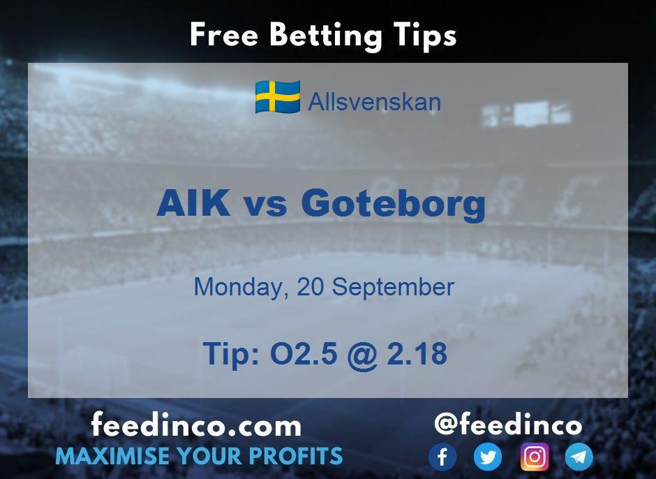 AIK vs Goteborg Prediction