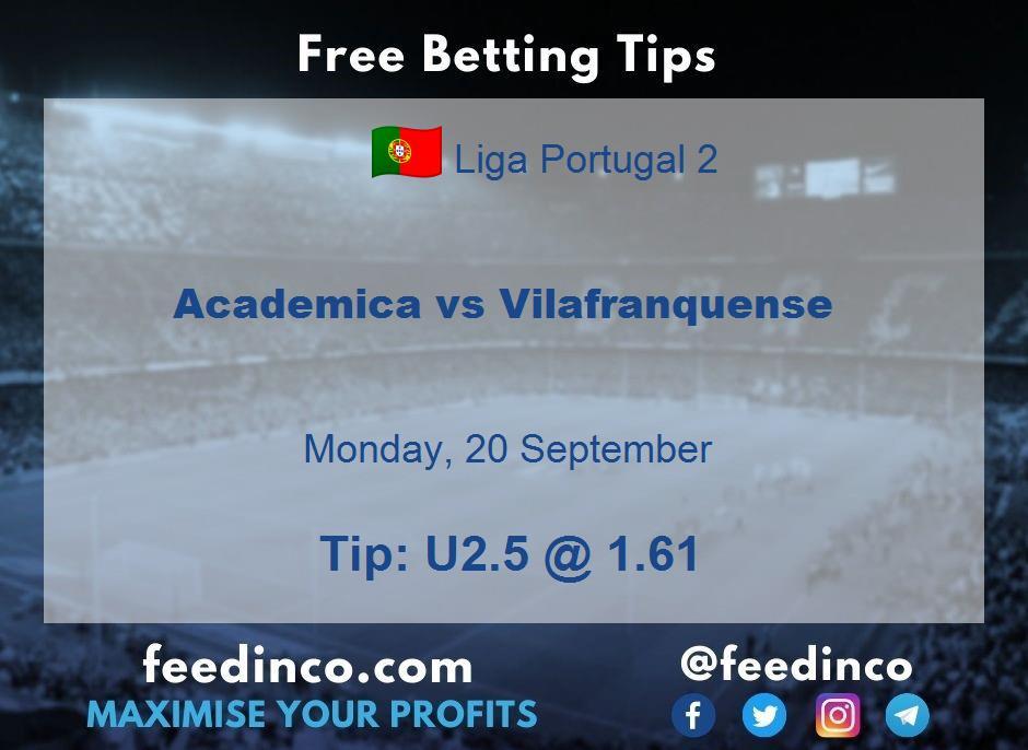 Academica vs Vilafranquense Prediction