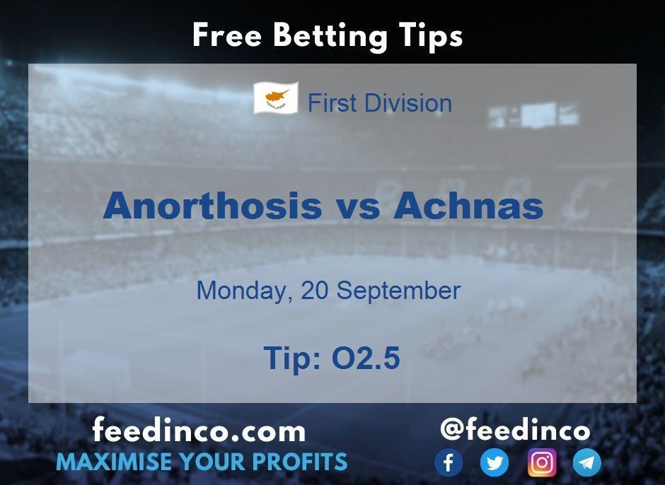 Anorthosis vs Achnas Prediction