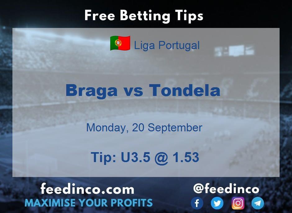 Braga vs Tondela Prediction