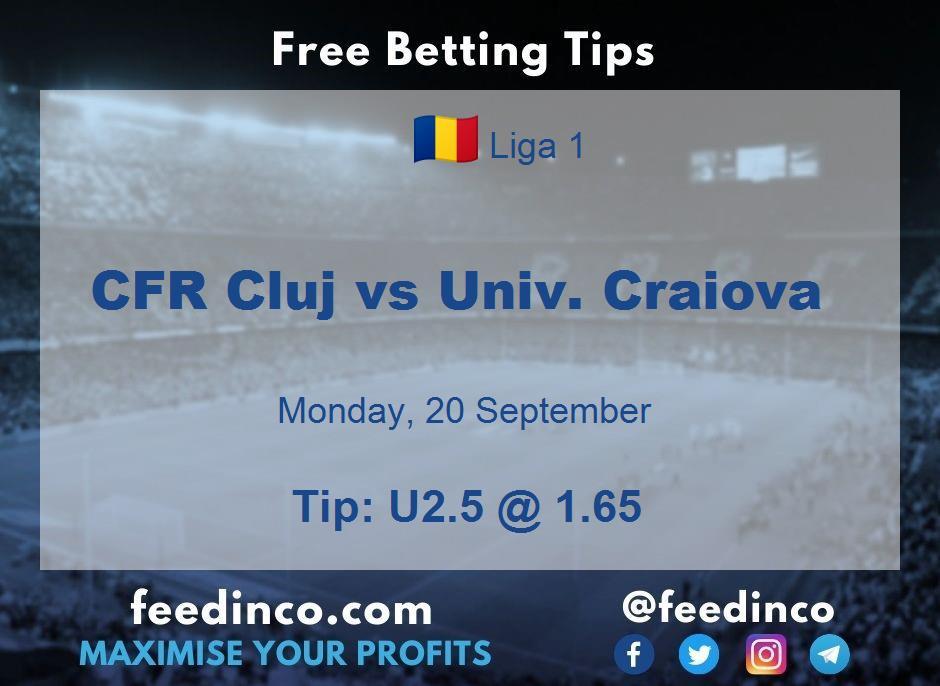 CFR Cluj vs Univ. Craiova Prediction