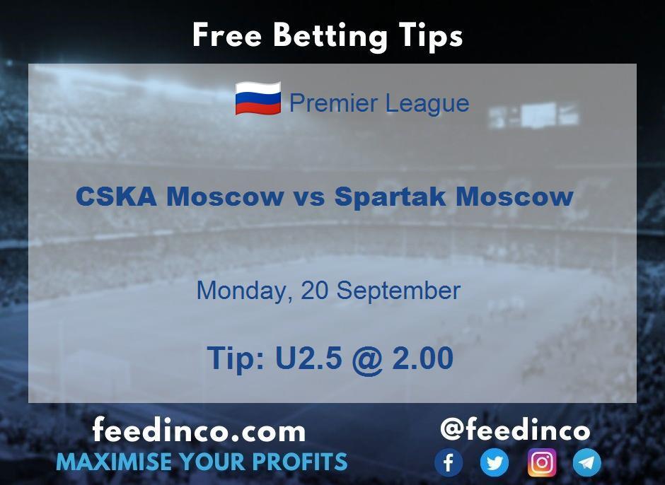 CSKA Moscow vs Spartak Moscow Prediction