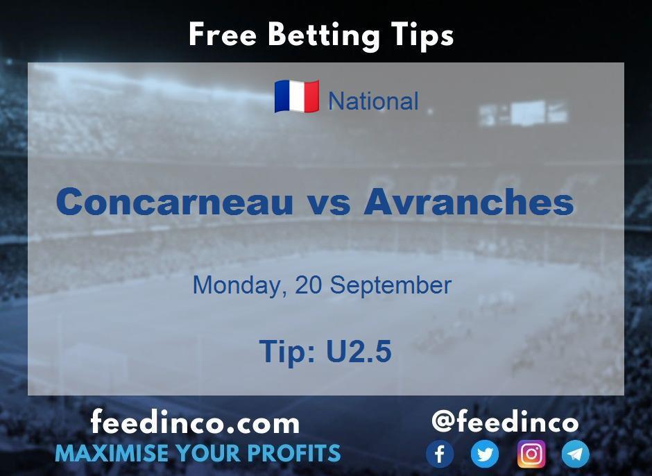 Concarneau vs Avranches Prediction