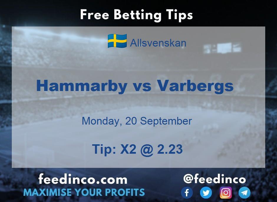 Hammarby vs Varbergs Prediction