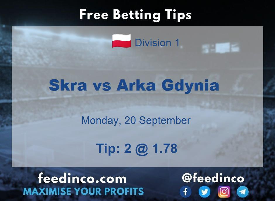 Skra vs Arka Gdynia Prediction