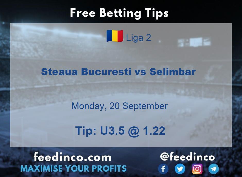 Steaua Bucuresti vs Selimbar Prediction