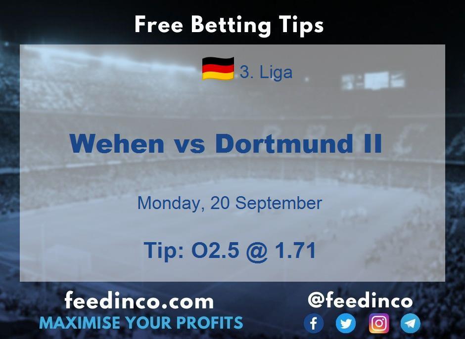 Wehen vs Dortmund II Prediction