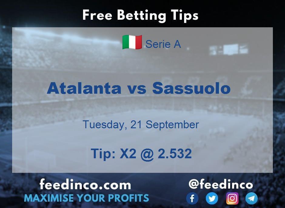 Atalanta vs Sassuolo Prediction