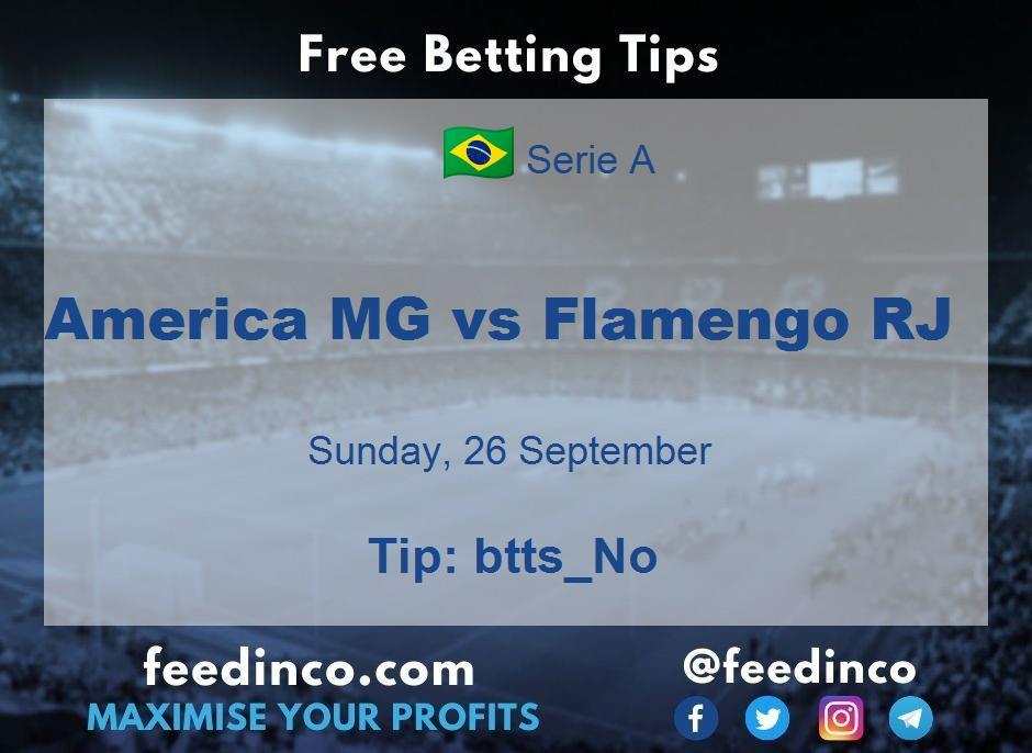 America MG vs Flamengo RJ Prediction