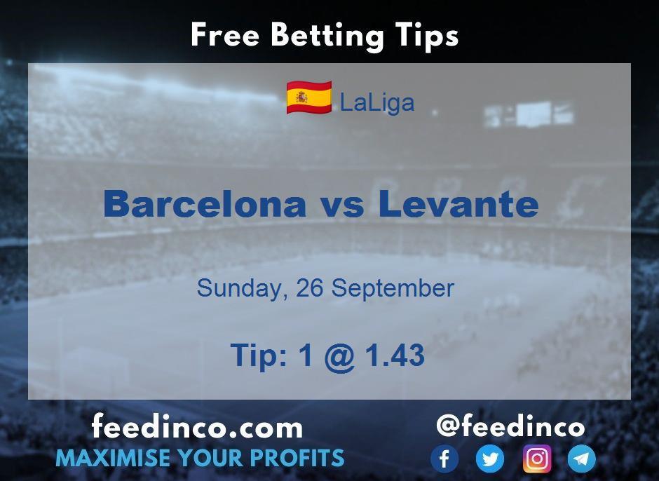 Barcelona vs Levante Prediction