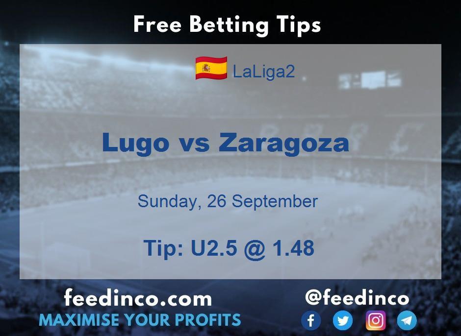 Lugo vs Zaragoza Prediction